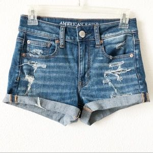 American Eagle Outfitters Shorts - American Eagle hi-rise shortie size 2